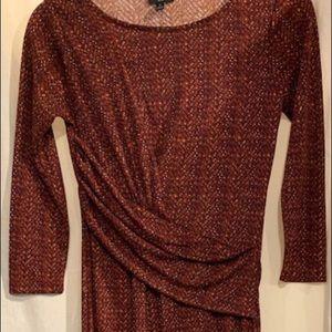 Talbots NWT Pattern Mock Wrap Dress Size P